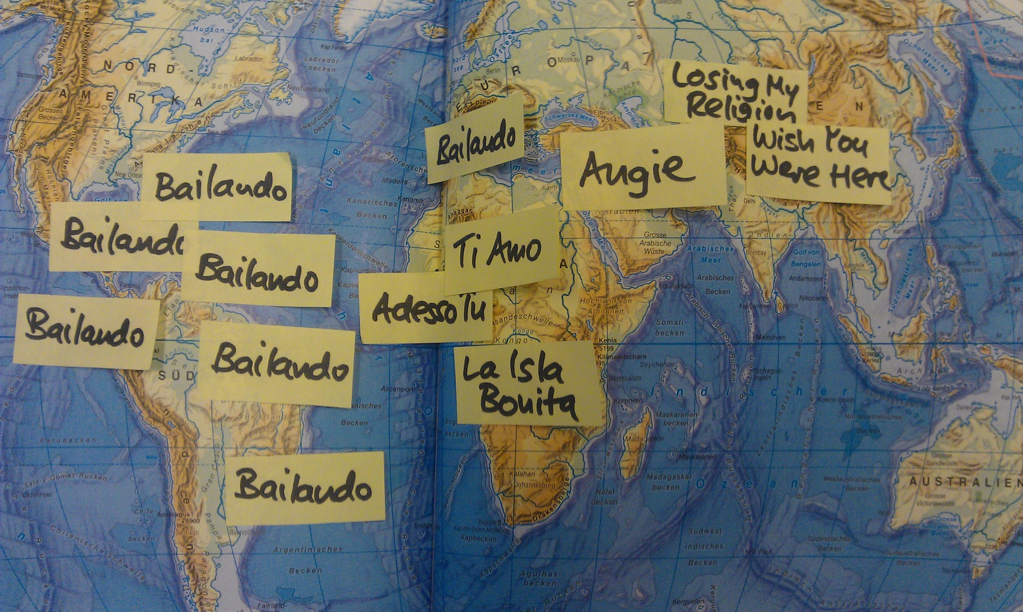 Die Weltkarte des Musikgeschmacks